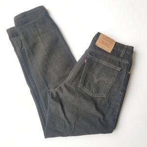 Levi's | Vintage 550 Black High Waisted Mom Jeans